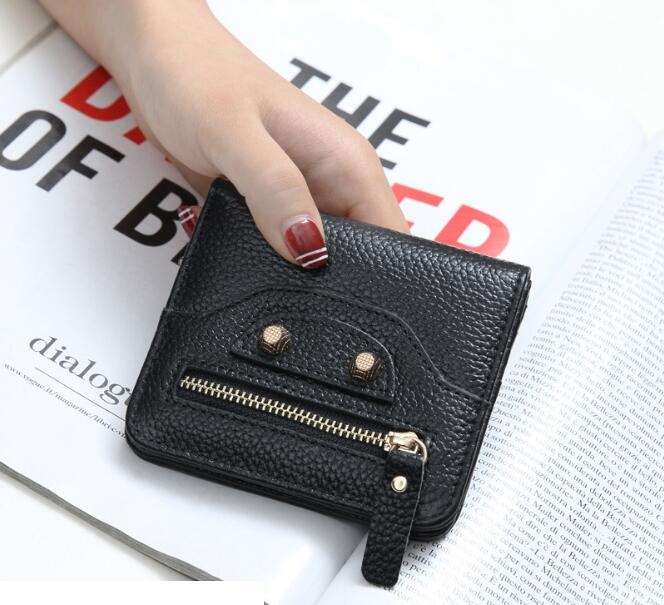 2017 brand design of women's leather purse coin bag small wallet mini zipper buckle lady purse card holder Genuine Leather mara s dream new arrival small dot zero printed girl s coin purses wallet bag pouch brand lady mini wallet with metal buckle