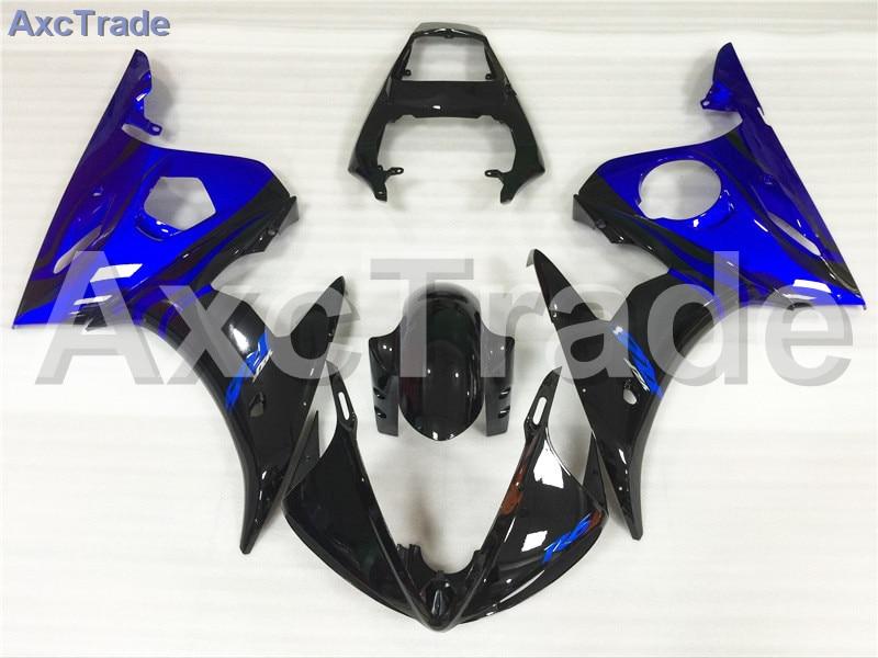 Motorcycle Fairings Kits For Yamaha YZF600 YZF 600 R6 YZF-R6 2003 2004 03 04 ABS Injection Fairing Bodywork Kit Blue Black A386