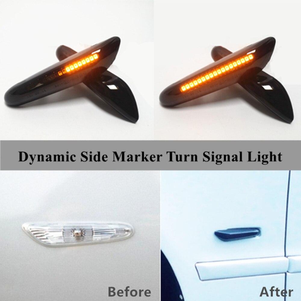 Dynamic Turn Signal Light LED Side Fender Marker Sequential Indicator For BMW 1 3 5 Series X1 E81 E82 E46 E90 E91 E60 E61 E84