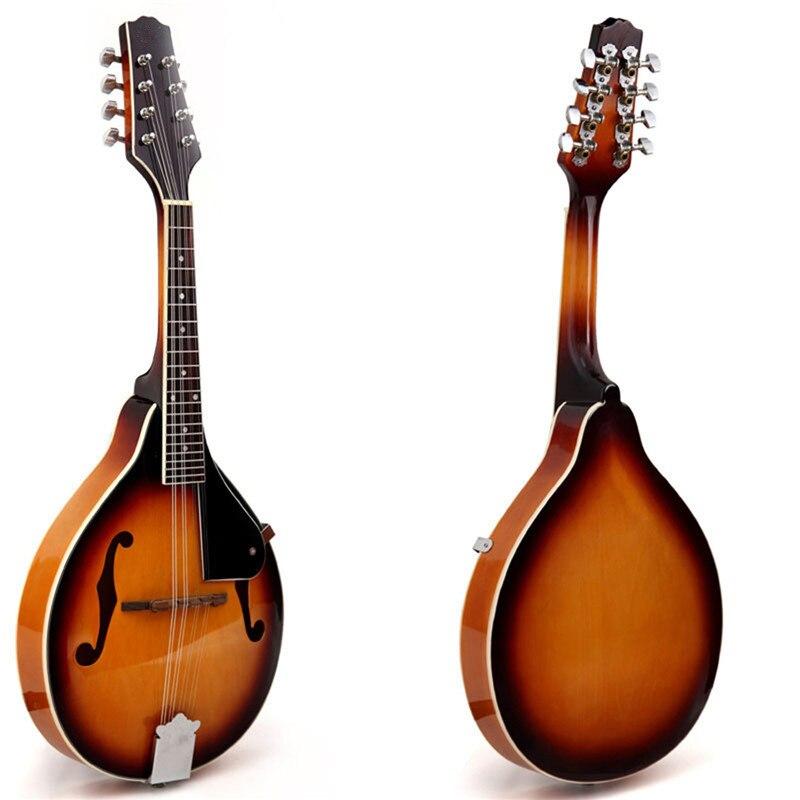 Zèbre coucher de soleil couleur palissandre 8 cordes F trou guitare basse électrique 20 Fret ukulélé pour Instruments à cordes musicaux cadeau amoureux