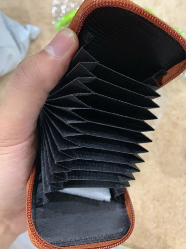 Genuine Leather Credit Card Holders Organ Female Card Holder Wallet Women Business Cardholder Organizer Men Purse by 8 Colors photo review