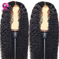 EVA Hair 360 Lace Frontal Wigs For Black Women Curly Lace Front Human Hair Wigs Pre Plucked With Baby Hair Brazilian Remy hair