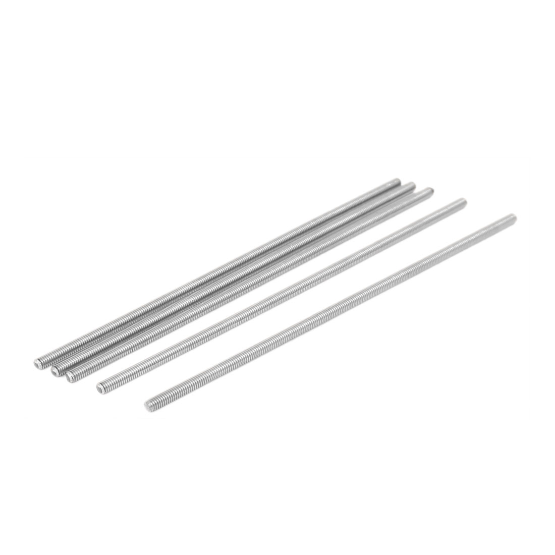 UXCELL M4 X 150Mm 304 Stainless Steel Fully Threaded Rod Bar Studs Silver Tone 5 Pcs