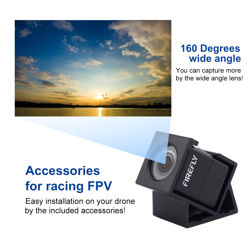 Firefly Micro Action Camera 160 Degree HD 1080P FPV Micro Camera Mini Cam DVR Built-In Mic For RC Drone