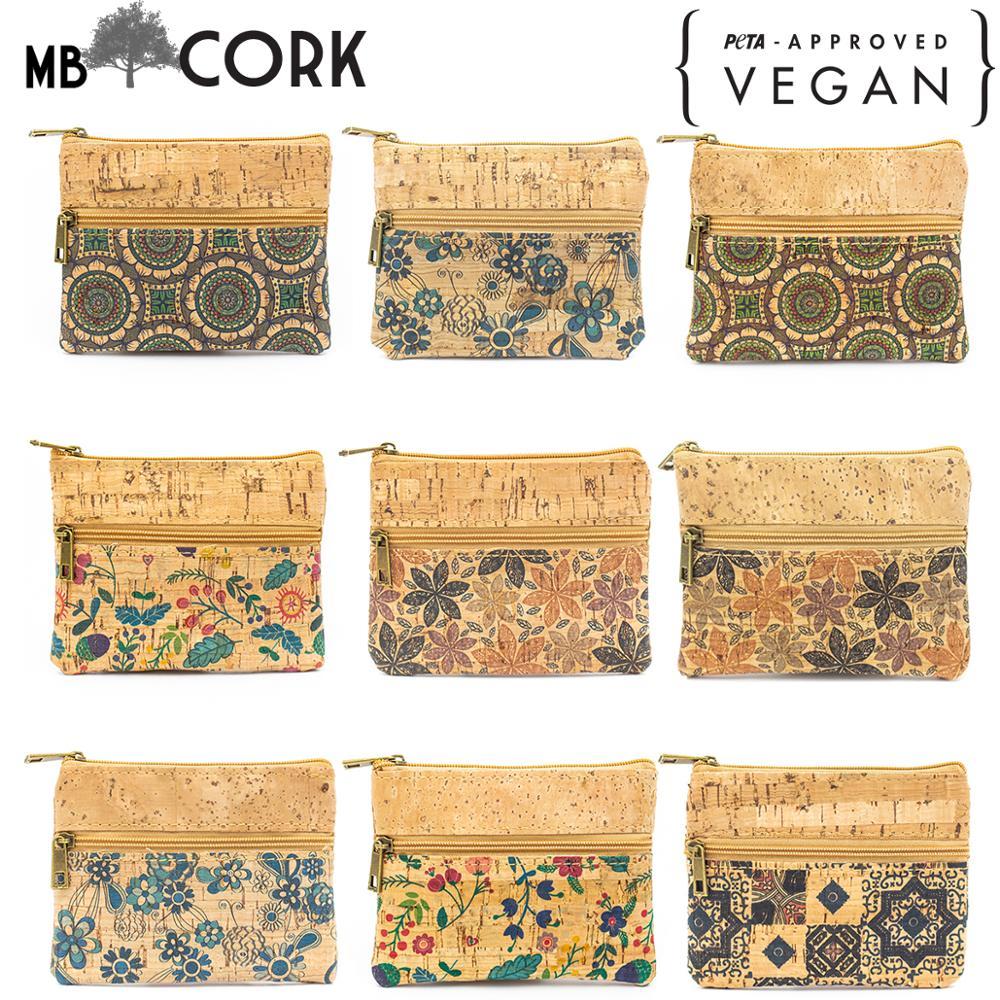 From PORTUGAL Natural Cork Handmade Small Vegan Purse Coin Cork Wallet Purse Original Eco BAG-278-NSPLMJ