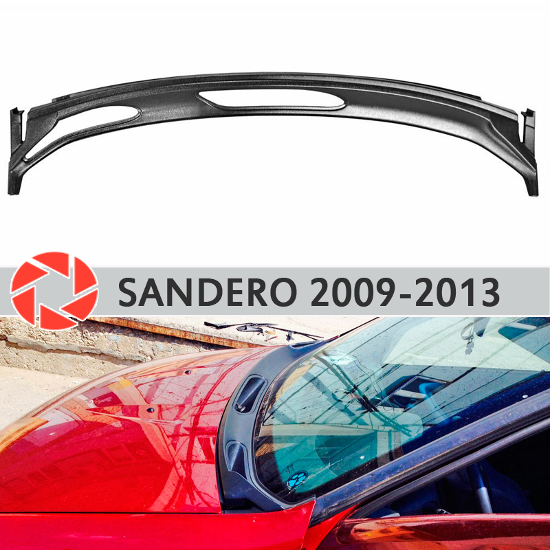 Jabot bajo el parabrisas para Renault Sandero 2009-2013 cubierta protectora de protección bajo el capó accesorios de protección estilo de coche