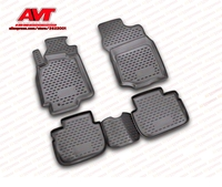 Floor mats for Mitsubishi Lancer Classic 2003 2009 4 pcs rubber rugs non slip rubber interior car styling accessories