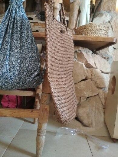 Women Fashion Designer Lace Handbags Tote Bags Handbag Wicker Rattan Bag Shoulder Bag Shopping Straw Bag photo review