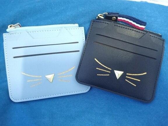 QIMANSHI Vrouwen Portemonnees Kaarthouder Portemonnee Mini Creditcardhouders Voor Vrouwelijke Lovely Cat Ear Cash Card Portemonnee photo review