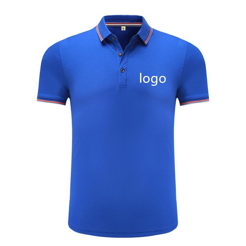 ea38555782 Personalizado Bordado camisa polo pique com seu próprio texto polo uniforme  para o logotipo da empresa