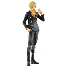 Original Banpresto action figure one piece OP Grandista Sanji PVC figurine model Figurals Dolls 6pcs set wcf one piece action figures dolls toys sanji vinsmoke family pvc figure doll