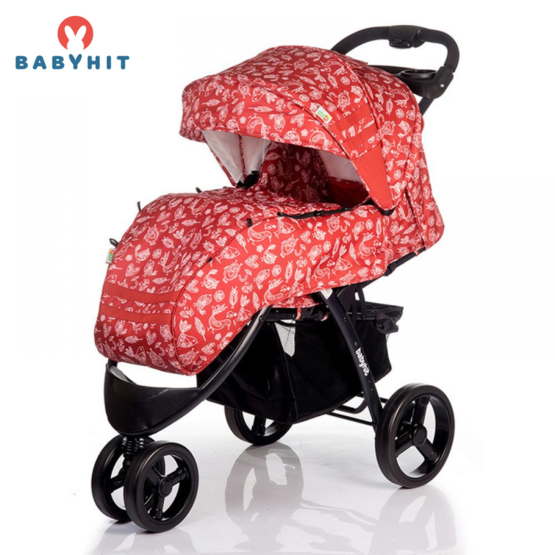 Three Wheels Stroller BabyHit VOYAGE, baby stroller Kidstravel four wheels stroller babyhit travel air kidstravel