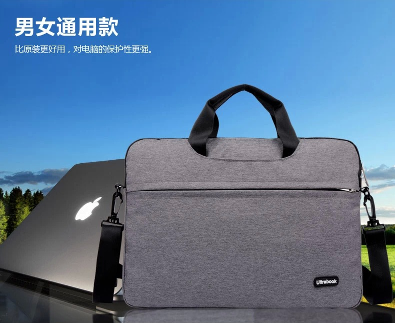 For Apple Macbook Air Pro Retina 11 12 13 15 quot Inch Notebook Big Capacity Laptop Handbag Notebook Shoulder Sling Bag Briefcase in Laptop Bags amp Cases from Computer amp Office