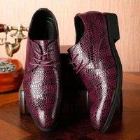 Mode Männer Business Formale Schuhe Krokodil Muster Leder männer Hochzeit Schuhe Italienische Luxus Kleid Schuhe LE 25-in Formelle Schuhe aus Schuhe bei