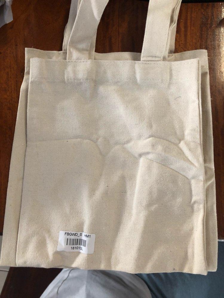 eTya Women Men Canvas Reusable Shopping Bag  Eco Foldable  Grocery Case Bags Tote Handbags Girl Solid Shoulder Bag photo review