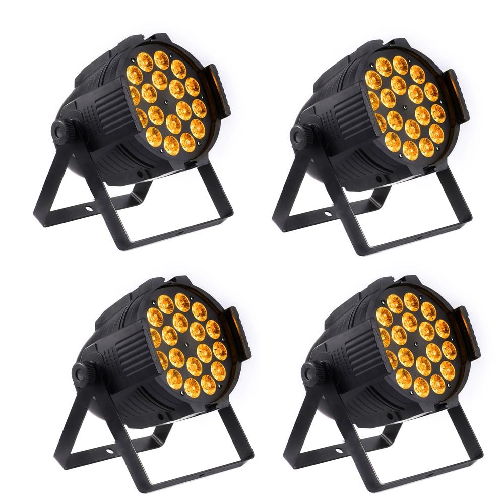 (4 pieces/lot) LED Par Light Par Can LED DJ Wash Light DJ Party Stage lighting 18 leds Metal Body
