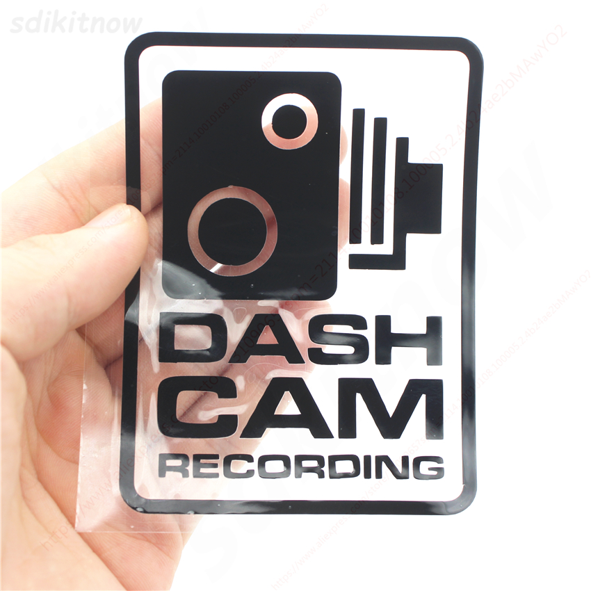 2pcs Dash Cam Recording Car Warning Sticker Styling Window Decals Decoration For BMW AUDI VW FORD TOYOTA HONDA KIA JEEP VOLVO