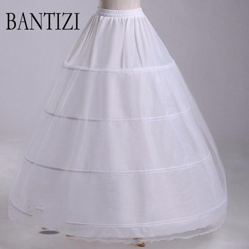 Enagua para el vestido de boda Mujeres tul camiseta jupon mariage crinolina enaguas novia vestido de noiva