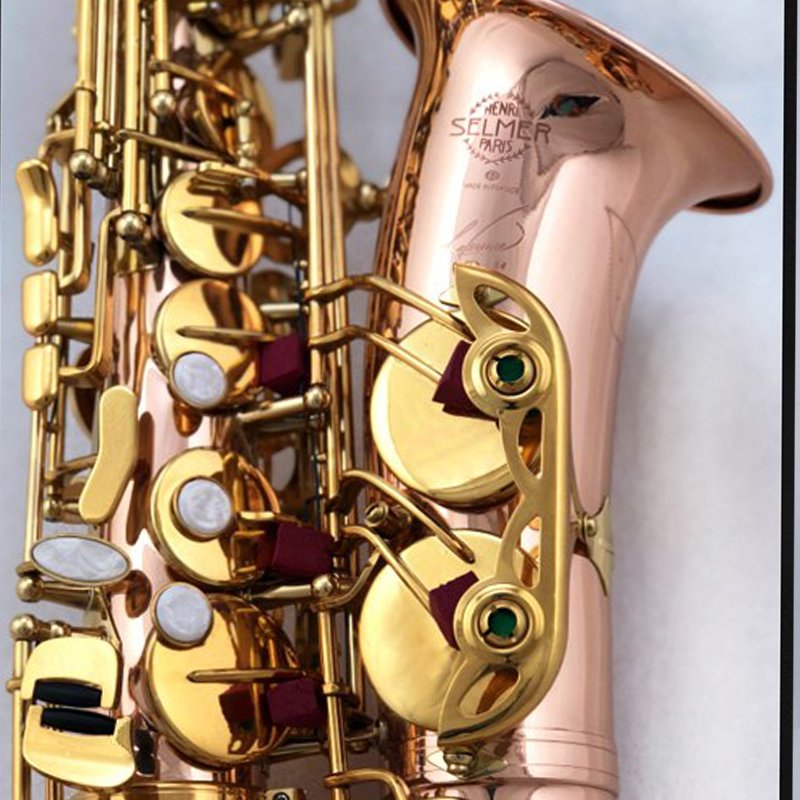 high quality Selm SAS R54 Eb Alto Saxophone Phosphor Bronze Copper 54 Alto Sax Professional Musical instrument&box free shippig alto saxophone 54 eb flat alto sax top musical instrument sax wear resistant black nickel plated gold process sax page 1