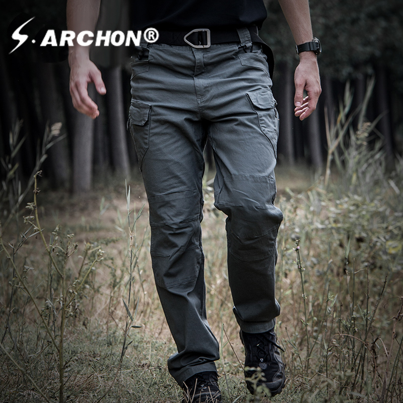 IX7 tactical mens pants Cargo casual Pants Combat SWAT Army active Military work Cotton male Trousers mens