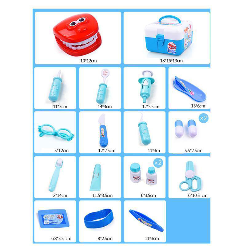 Medical Role Play Dentist Tools Toy Kit with Carry Case Set For Children Kids in Doctor Toys from Toys Hobbies