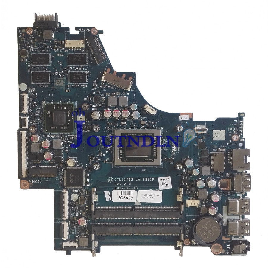 JOUTNDLN FOR HP 15 BW Laptop Motherboard 924726 001 924726 501 924726 601 W A12 9720P