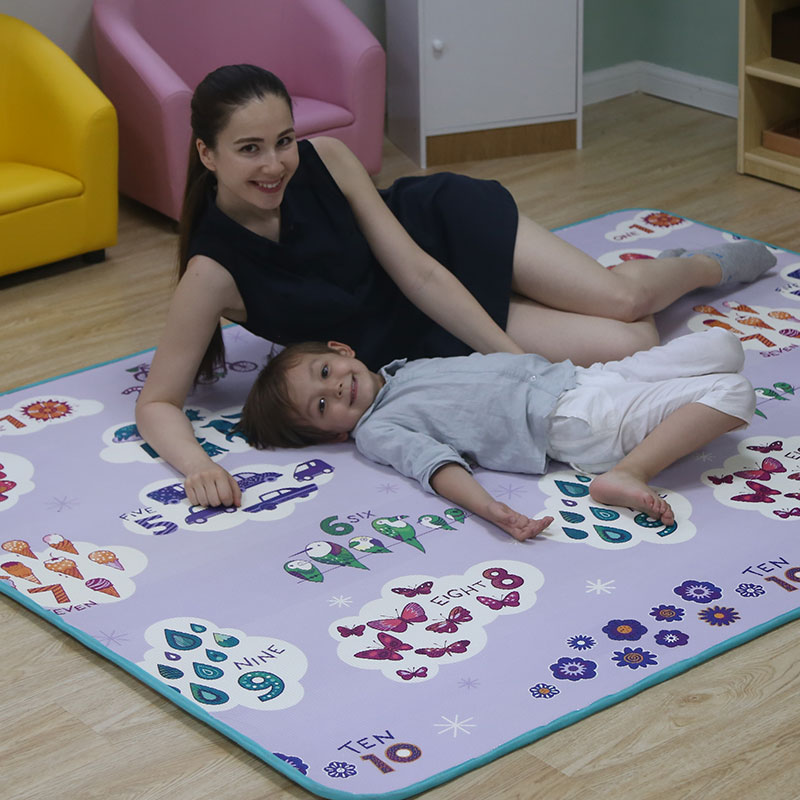 Baby Play Floor Playing Infant XPE Foam Two Sides Cartoon Thickened Game Rug 200*150*1.8cm Crawling Mat On Sale Mat006
