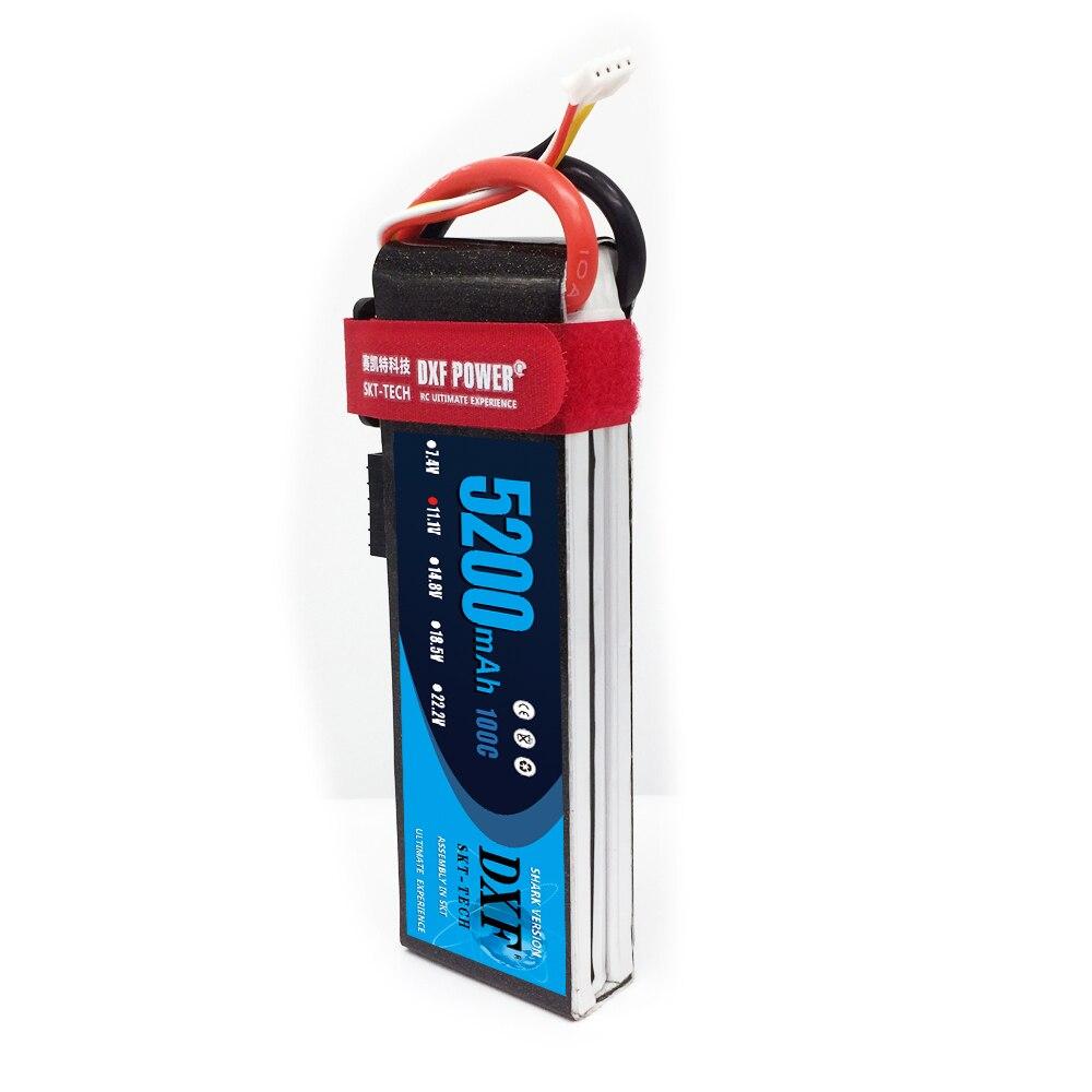 Batterie DXF Lipo 11.1V 5200MAH 100C 3S MAX200C T/XT60 LiPo RC batterie pour hélicoptère Rc voiture drone camion quadrirotor Traxx