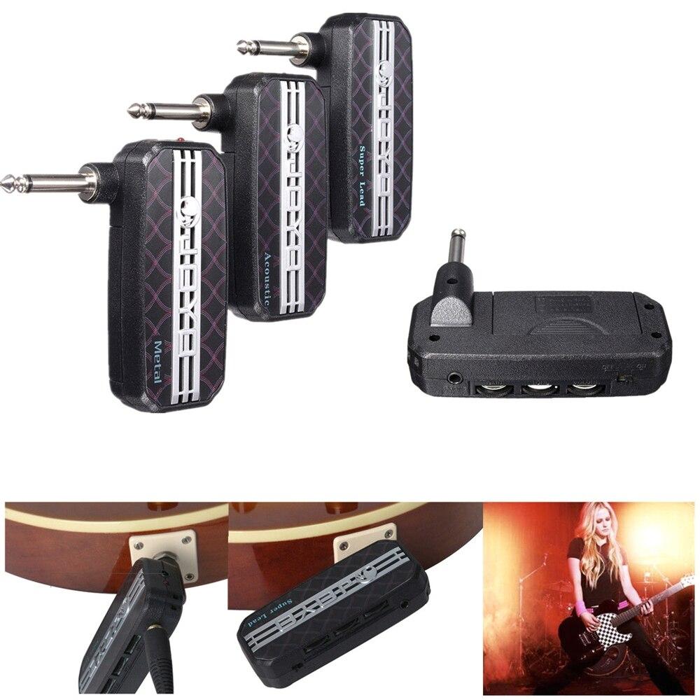 JA-03 Portable Électrique Guitare Pré-amp Mini Guitare Poche Amplificateur Distorsion Amp Simulator Casque Sortie bonne Dynamique