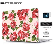 цена на Plastic Hard Case Cover Laptop Shell+Keyboard Cover+Screen Film+Dust Plug For Macbook Air 11 13 Pro 13 15 Retina Touch Bar 13 15