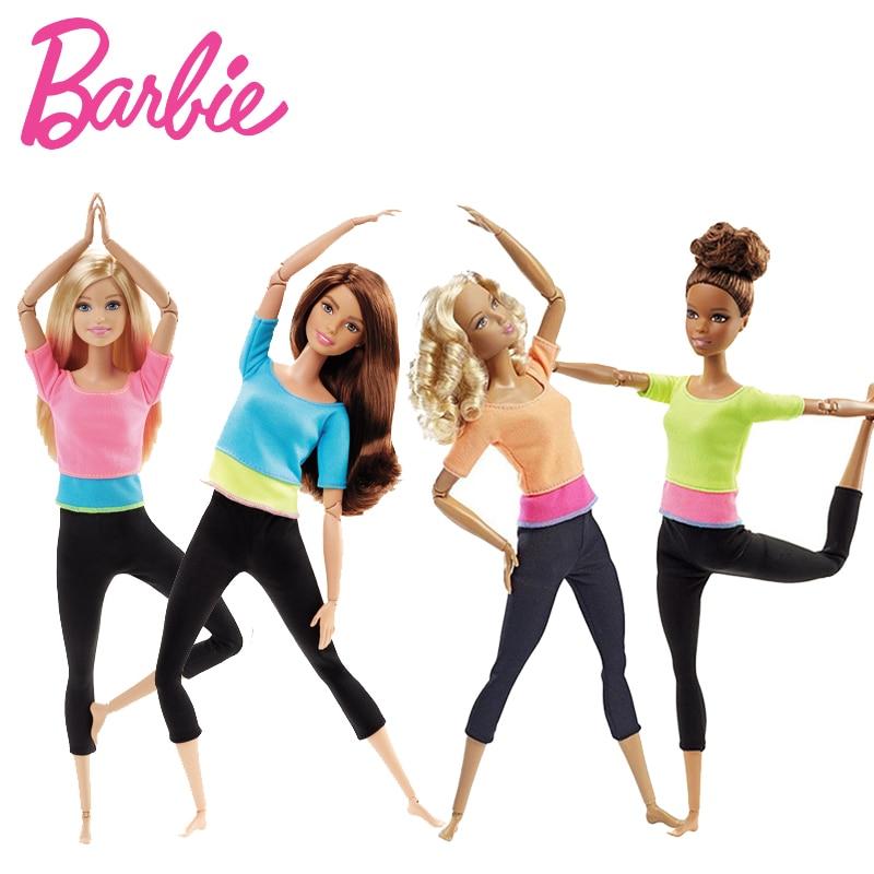 Original Barbie Marke Amerikanischen Mädchen Puppen 6 Stil Yoga Gymnas Gelenke Bewegung Spielzeug Für Kinder Die Mädchen EIN Geburtstag Geschenk bonecas
