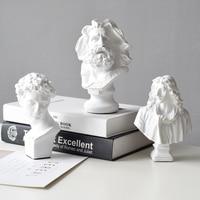 Famous Statue Mini Figure Decoration Resin Bust Practice Sculpture/Crafts Sketch Plaster Sculpture Home Decor