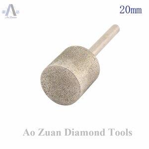 Image 3 - 12 40 ミリメートルグリット 80 ラフダイヤモンドコーティングシリンダーヘッド研削ビットロータリーツールバリポイント宝石細工用の彫刻ツールのための石の作業