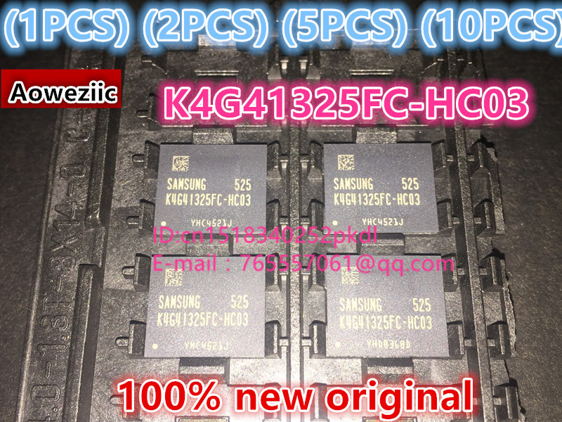 (1PCS) (2PCS) (5PCS) (10PCS) 100% New original  K4G41325FC-HC03   BGA  memory chip K4G41325FC HC03 1pcs 2pcs 5pcs 10pcs 100
