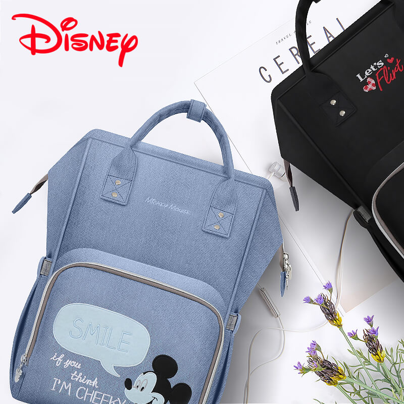 Disney Mickey Minnie Best Diaper Bag Backpack Mummy Maternity Care Large  Capacity Nappy Bag USB Bottle 9d07d8a44c4a