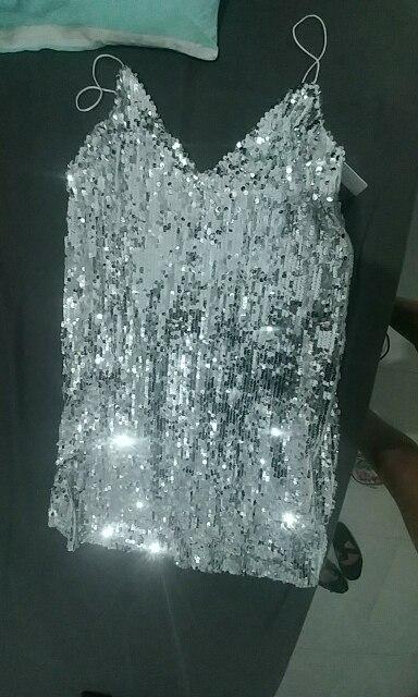 Глубокий V шеи серебро блестками спинки сексуальное платье Для женщин с плеча платье мини с коротким для рождественской вечеринки клуб ремень платья Vestidos