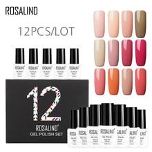 (12 pz/lotto) ROSALIND 7 ml di Gel Set di Colore Solido Set Per La Nail Manicure Smalto Vernis Semi Permanente Smalto Del Gel Del Chiodo Kit