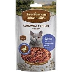 Деревенские лакомства Соломка утиная нежная для кошек 45 г
