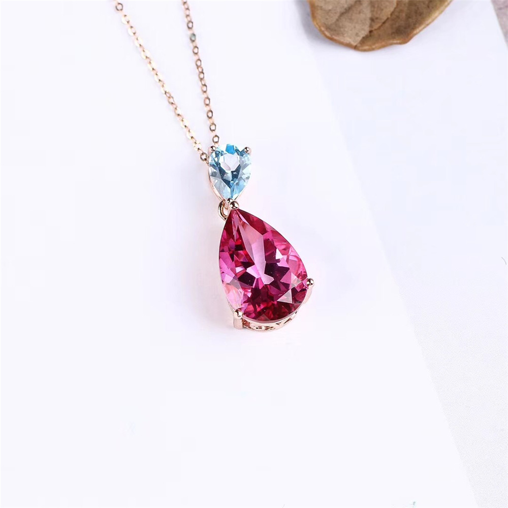 925 Sterling Silver Claw Natural Topaz Pendant Necklace Sells Collarbone Original Popular Classic Exquisite and Generous letter j heart collarbone pendant necklace