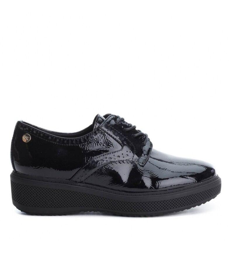 Cuero De zapato Negro De zapato Xti Xti qxRpwUU61