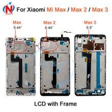 شاومي مي ماكس شاشة LCD تعمل باللمس محول الأرقام الجمعية ل شاومي مي ماكس 2 LCD Max2 ماكس 3 استبدال الشاشة أسود أبيض