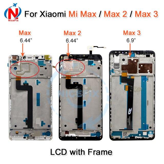 Pantalla LCD Xiaomi Mi Max, montaje de digitalizador con pantalla táctil para Xiaomi Mi Max 2, LCD Max2 Max 3, repuesto de pantalla en negro y blanco
