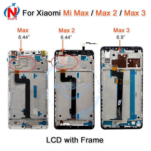 Xiaomi mi最大lcdディスプレイタッチスクリーンデジタイザxiaomi mi最大 2 液晶Max2 最大 3 スクリーン交換黒、白