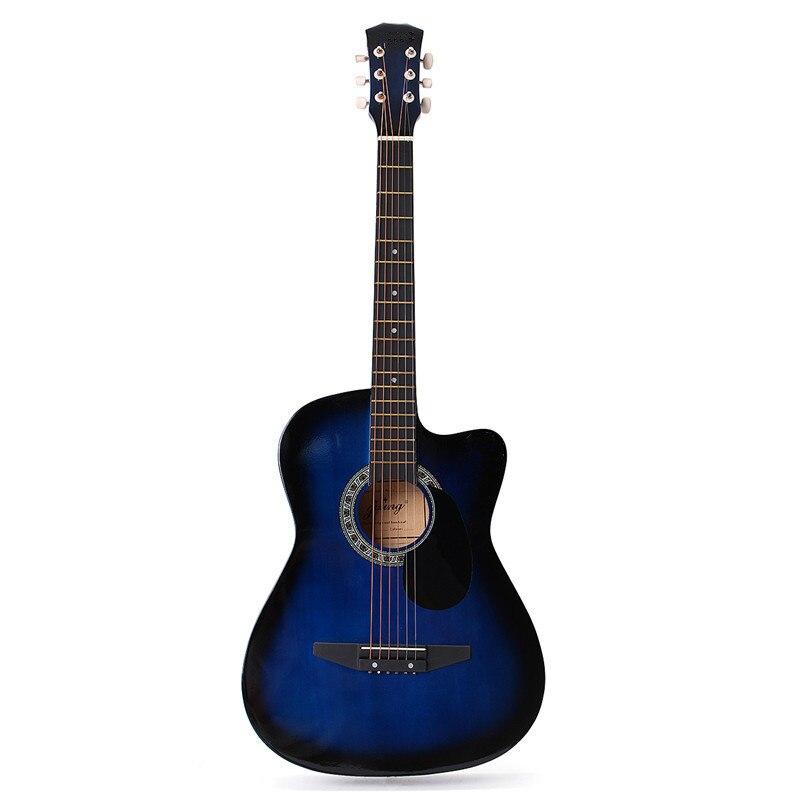 Cebra 6 color 38 pulgadas madera acústica popular Guitarras ra bajo eléctrico Guitarras Ukuleles con bolsa de caja para Instrumentos musicales amante