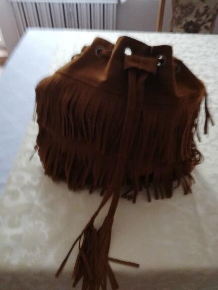 Retro Faux Suede Fringe Women Bag Messenger Bags New Handbag Tassel Shoulder Handbags Crossbody Gift photo review