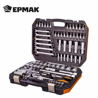 Ermak Classic A set of professional tools 98items 1/4+1/2 high quality manual car discounts sale Free shipping Ratchet 736 153