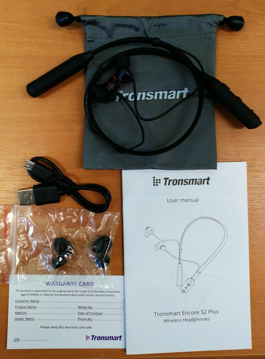 Drop Shipping Tronsmart S2 Plus Bluetooth Earphones IPX45 Waterproof Wireless Headsets Active Noise Cancellation Superior Bass-in Bluetooth Earphones & Headphones from Consumer Electronics on AliExpress