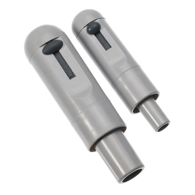 2pcs Grey Universal Saliva Swivel Sucker Suction Handle With ...