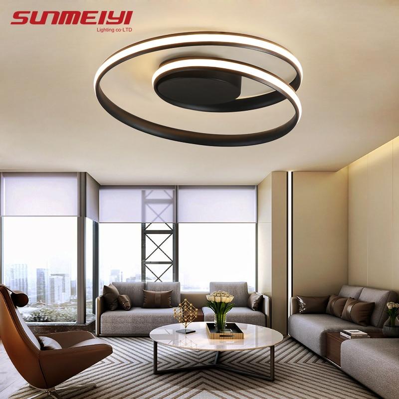 Ronde Animée Plafonniers luminaire plafonnier Pour salon cuisine lampen moderne Luminaires eclairage plafond