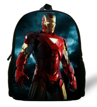 12-inch New style Robot IronMan backpack Superman Bags Printing Boys Bags Kids School Backpack Age 1-6 Mochila Escolar Menino